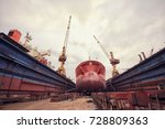 maintenance of the vessel | Shutterstock . vector #728809363