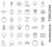 garden icons set. outline style ... | Shutterstock .eps vector #728812060