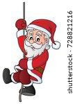 climbing santa claus theme...   Shutterstock .eps vector #728821216