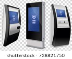 set of stand and wall mount... | Shutterstock .eps vector #728821750