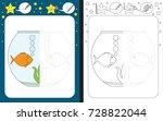 preschool worksheet for... | Shutterstock .eps vector #728822044