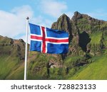 Flag Of Iceland Against The...