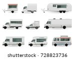 food trucks realistic... | Shutterstock .eps vector #728823736