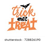 trick or treat handwriting... | Shutterstock .eps vector #728826190