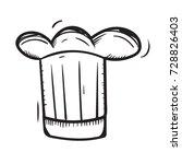 chef hat doodle  | Shutterstock .eps vector #728826403