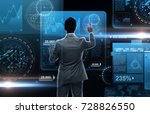 business  people  big data and... | Shutterstock . vector #728826550