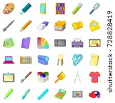design icons set. cartoon style ... | Shutterstock .eps vector #728828419