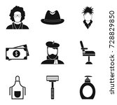 spiny icons set. simple set of...   Shutterstock .eps vector #728829850