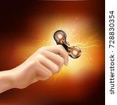 fidget finger spinner device in ... | Shutterstock .eps vector #728830354