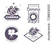 cinema labels emblem logo... | Shutterstock .eps vector #728833033