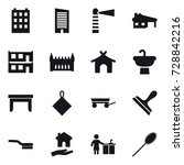 16 vector icon set   building ... | Shutterstock .eps vector #728842216