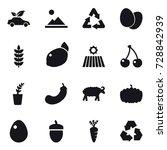 16 vector icon set   eco car ... | Shutterstock .eps vector #728842939