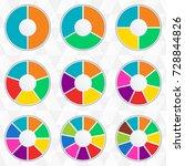 wheel infographics template.... | Shutterstock .eps vector #728844826