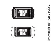 a set of retro ticket icons in... | Shutterstock .eps vector #728850688