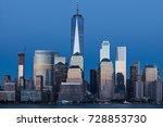 Lower Manhattan Skyline At Blu...