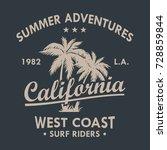 california vintage t shirt... | Shutterstock .eps vector #728859844