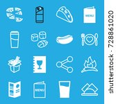 menu icons set. set of 16 menu... | Shutterstock .eps vector #728861020