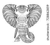 the head of an elephant.... | Shutterstock .eps vector #728862859