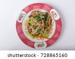 fried noodle with vegetables | Shutterstock . vector #728865160