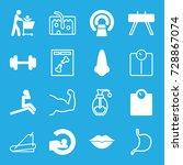 body icons set. set of 16 body... | Shutterstock .eps vector #728867074