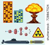 nuclear weapon vector...