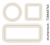 vector decorative braided... | Shutterstock .eps vector #728868763