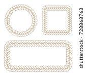 vector decorative braided... | Shutterstock .eps vector #728868763