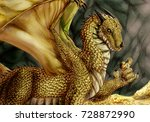 Golden Dragon With Gold Coins