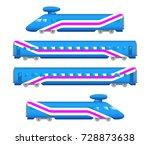flat  railway jet locomotive... | Shutterstock . vector #728873638