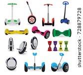 segway monowheel solo wheel... | Shutterstock .eps vector #728879728