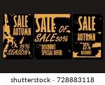 autumn sale background template.... | Shutterstock .eps vector #728883118