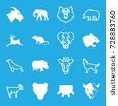 mammal icons set. set of 16... | Shutterstock .eps vector #728883760