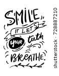 smile  it let's your teeth... | Shutterstock .eps vector #728887210