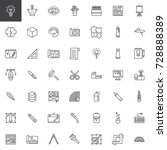 graphic design tools line icons ...