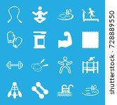 fitness icons set. set of 16... | Shutterstock .eps vector #728889550
