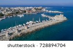 aerial drone photo of rhodes... | Shutterstock . vector #728894704