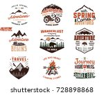 set of vintage adventure tee... | Shutterstock . vector #728898868