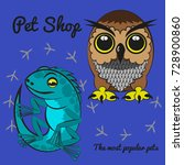 colorful pet shop icon design.... | Shutterstock . vector #728900860