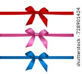 collection of textile bow of... | Shutterstock .eps vector #728901424