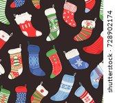 hand drawn seamless pattern... | Shutterstock .eps vector #728902174