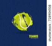 vector tennis ball. design... | Shutterstock .eps vector #728904508