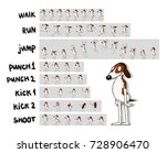 sprite sheet of cartoon... | Shutterstock .eps vector #728906470