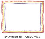 colorful frame consists of... | Shutterstock .eps vector #728907418