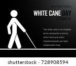 white cane day | Shutterstock .eps vector #728908594