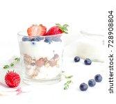 healthy breakfast of homemade... | Shutterstock . vector #728908804