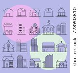 vector icon set   modern... | Shutterstock .eps vector #728908810