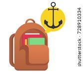 school bag vector illustration | Shutterstock .eps vector #728910334