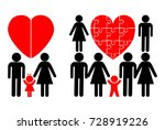 nuclear family and blended... | Shutterstock . vector #728919226