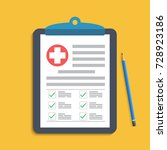 clipboard with medical cross... | Shutterstock .eps vector #728923186