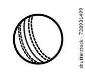 cricket sport line icons ball | Shutterstock .eps vector #728931499